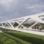 DEU, Berlin, 07/2014, Geh- und Radwegbrücke, Architekt: raumzeit, Bildtechnik: Digital-KB
